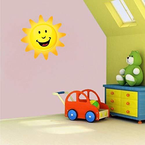 Lächeln Sonne Wandaufkleber Cartoon Muster Wandtattoo Für Kindergarten Kinderzimmer Tapete Diy Kunst Poster Wandhauptdekor