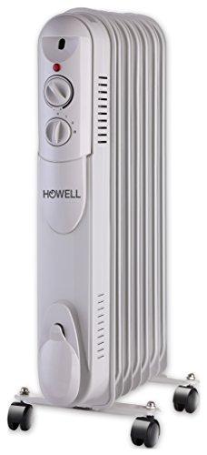 HOWELL TMO711 Termoconvettore ad Olio con 7 Elementi, Bianco, 38x64x16.5 cm