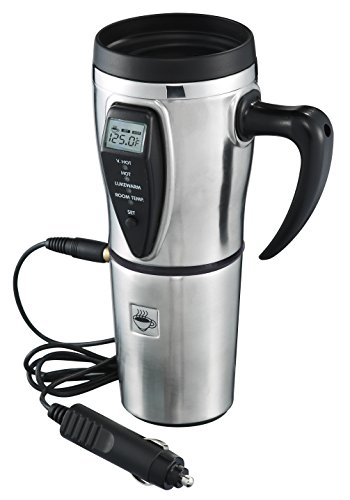 Heated Smart Travel Mug with Temperature Control - 16 ounce- 12V...