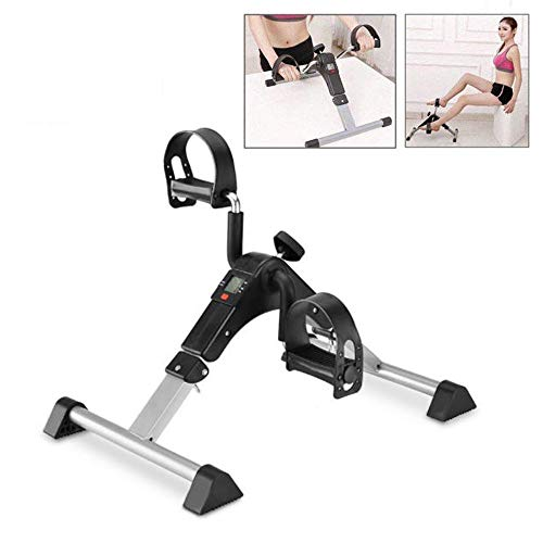 Ejercitador de brazos y piernas con monitor LCD, bicicleta de pedales de ejercicios, equipo de ejercicios para personas mayores y recuperación de ancianos