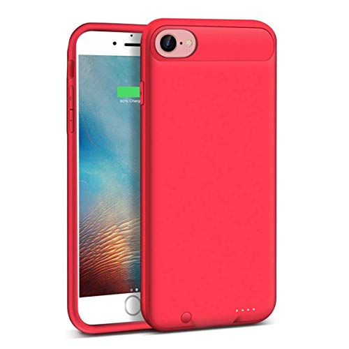 ZANYA iPhone 7 Battery Case 3000 mAh Replacement Battery Case for iPhone 8(4.7 inch) Extended iPhone Case 7 with Charger Support Lightning Red