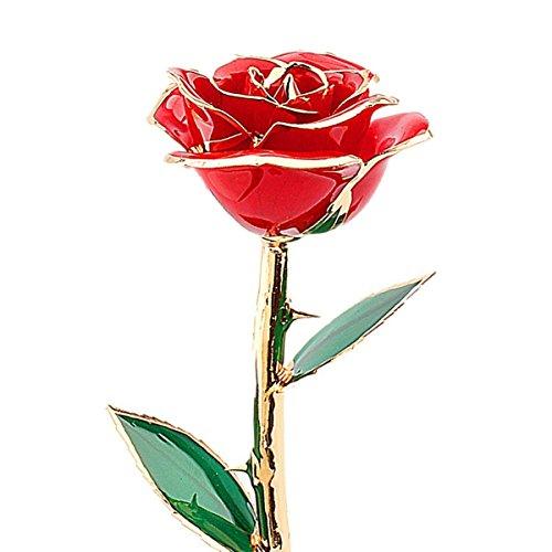 24k gold rose, echte gold rose, echte rote Rose Blume Geschenke für Valentinstag Liebe Geschenk für die Freundin von Geburtstag Weihnachten Jahrestag Tag der Dekoration des Blume rot