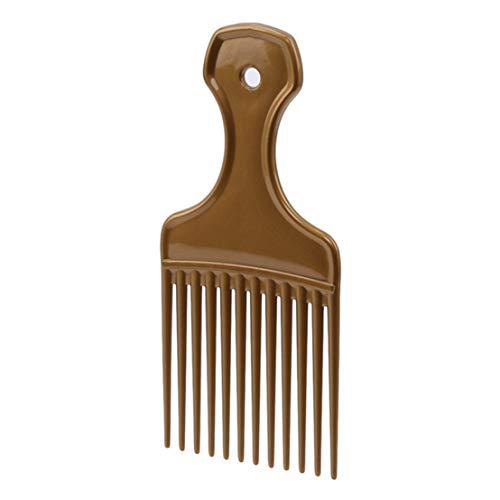Kissherely 1Pc Afro Outils De Coiffage Insérez Cheveux Choix Peigne Longue Dent Engrenage Brosse À Cheveux (Or)