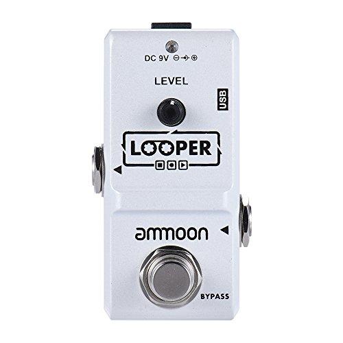 ammoon Looper Gitarre Nano Loop Station E-Gitarre Effektpedal Gitarrenpedale True Bypass Unbegrenzte Overdubs 10 Minuten Aufnahme mit USB-Kabel