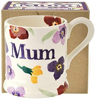 Emma Bridgewater - Wallflower 'Mum' 1/2 Pint Mug, Boxed by Emma Bridgewater