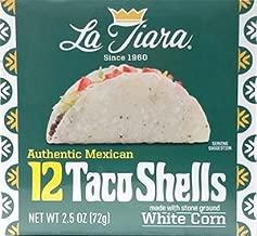 La Tiara White Taco Shell Box of 12 (Pack of 6 Boxes, 72 Total)