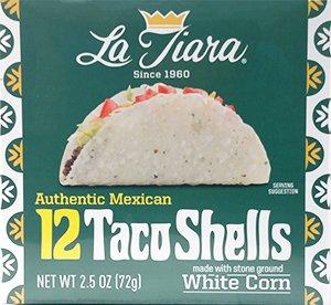 La Tiara White Taco Shell Box of 12  Pack of 2