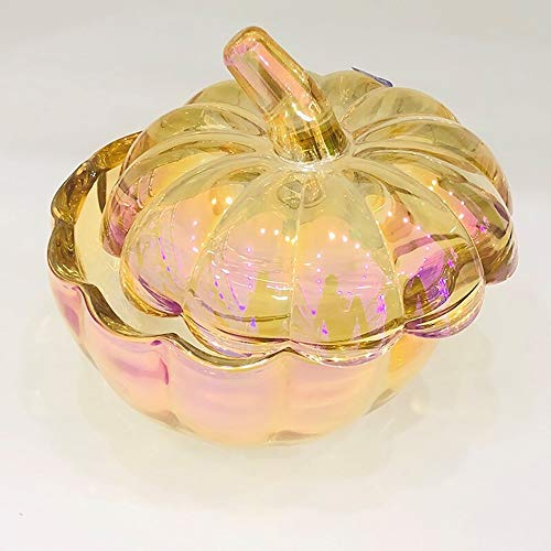 JANRON Bomboniera szklana miseczka kryształowa ze szklaną pokrywką z przezroczystym przykryciem Candy Bowl kryształ szkło do przechowywania szkło pudełko do przechowywania szkło zestaw 1 szt. - 17 x 16,4 cm