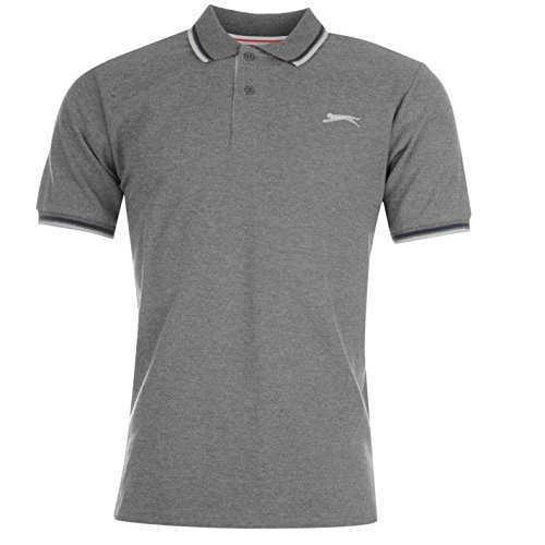 Slazenger Tipped Herren Polo Poloshirt T Shirt Kurzarm Classic Fit Tee Top XL