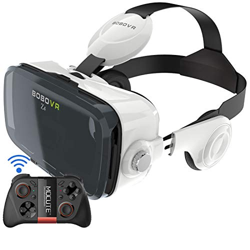 VR Headsets Compatible With iPhone and Android Universal VR Goggles for Children and Adults Best Mobile Game 360 Movie Wear New 3D Glasses That Are Comfortable and Soft Compatible With Android and IOS