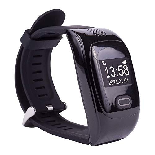Tellimed Solino - Reloj de emergencia con GPS para personas mayores, fiable y fácil de usar para la máxima seguridad en casa y de viaje, negro