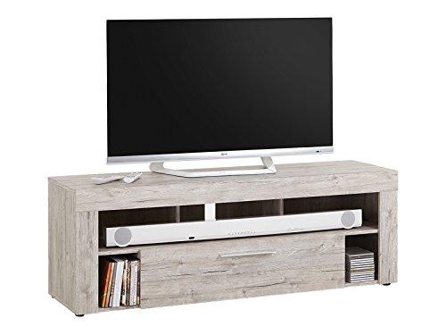 möbelando TV-Lowboard HiFi Longboard Unterschrank Fernsehtisch Rack Tisch Morena I Sandeiche