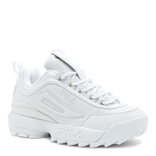 FILA Disruptor II Sneaker, Triple White, 6 M US Big Kid
