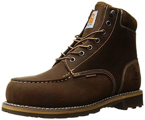 Carhartt Men's 6' CMW6297 Leather Waterproof Breathable Lug Bottom Steel Toe Work Boot, Dark Bison Oil Tanned, 11 M US
