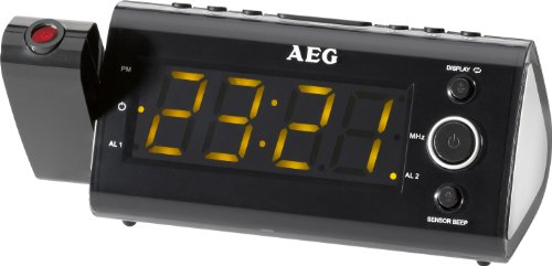 AEG Radio-réveil avec projection de l'heure Écran LED 11 cm (4 (Import Allemagne)