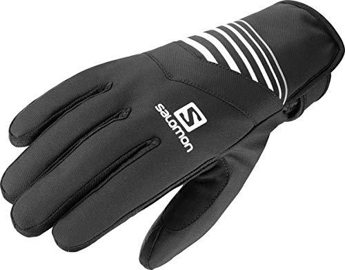 Salomon Unisex Leichte Lauf-Handschuhe RS WARM GLOVE U, Schwarz/Weiß, Gr. L, LC1185000