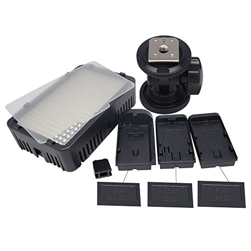 Mcoplus® - LED 168 Bi-colore 3200K - 7500K Ultra High Power Panel Digital Camera / Camcorder per Canon, Nikon, Pentax, Panasonic, Samsung e Olympus