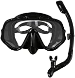 ZouYongKang Sb snorkel Adulto, Top Seco Snorkeling Engranaje, Resistente a la niebla Anti Niebla Panorámica Panorámica Panorámica Máscara, Fácil respiración bajo el agua para snorkeling, natación, buc