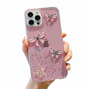 Miagon Glitter Paillette Brillant Coque pour Samsung Galaxy S9 Plus,Fille Femme Transparent Cover Scintillait Étoile Silicone Flexible Étui Housse,N½ud Rose