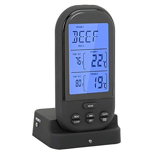 Vleesthermometer Food Grill Thermometer Dual Probe Digital koken vleesthermometer Display voor Home BBQ keuken MEERWEG AANBIEDING #2