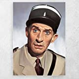 ZFLSGWZ Louis De Funes Leinwand Portrait Poster Malerei