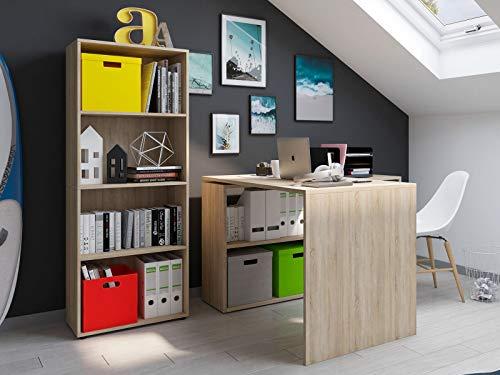 """möbelando Büro-Kombi mit Regal Büroprogramm Arbeitszimmer Komplettset Büromöbel Trio 4"""" Sonoma/Eiche"""