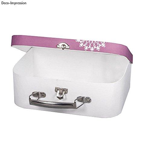 Rayher 67206000 Pappmaché Koffer, 24 x 16 x 8 cm, FSC zertifiziert, mit Metallgriff und Schnappverschluss, kleiner Koffer aus Pappmaché, Bastelkoffer, Utensilienkoffer, Pappmachébox