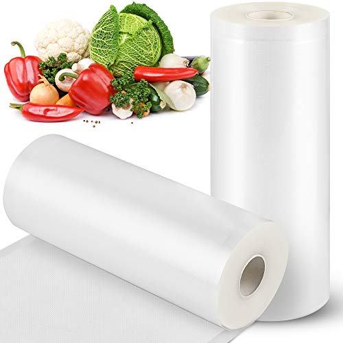 Vacuum Sealer Bags STYFSCP 2 Rolls 8 Inch * 50 Foot Food Saver Bags for Food Saver Seal a Meal BPA Free Commercial Grade Heavy Duty Vacuum Sealer Rolls for Food Storage Meal Prep or Sous Vide
