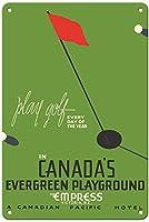 カナダの常緑の遊び場ティンサイン装飾ヴィンテージ壁金属プラークカフェバー映画ギフト結婚式誕生日の警告のためのレトロな鉄の絵画
