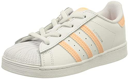 adidas Superstar EL, Sneaker, Cloud White/Haze Coral/Cloud White, 27 EU