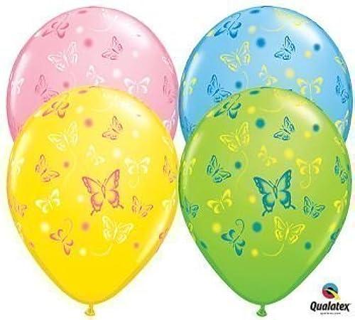 bienvenido a orden Mariposas Mariposas Mariposas Qualatex globos de látex, 27,9cm, 25por paquete  entrega de rayos