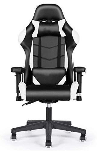 YONGYONGCHONG Silla de oficina ergonómica para juegos, silla de ordenador, silla reclinable, silla de oficina, respaldo para juegos, silla giratoria (color : C, tamaño: tamaño libre)