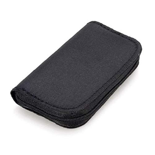 hong Wu 22 Slots Speicherkarten-Tasche wasserdicht SD-Kartenhalter-Tragetasche für Micro SDHC SDXC TF SIM-CF-Karte-Schwarz Handy digitales Zubehör