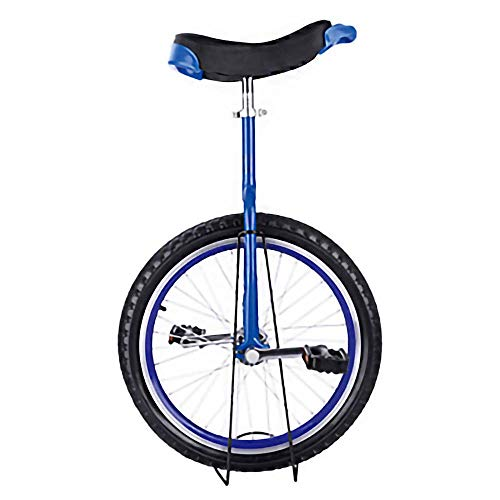 Unicycle,Adjustable Skidproof Mountain Tire Balance Cycling Exercise A Cycle with A Single Wheel Used for Acrobats Kids Beginners / 16 inches/Blue
