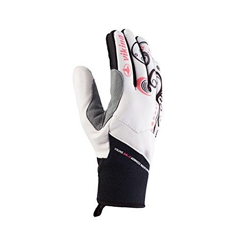 VIKING Cortina Gants de sport pour cyclisme, jogging, ski de fond et marche nordique Noir/blanc Taille 5