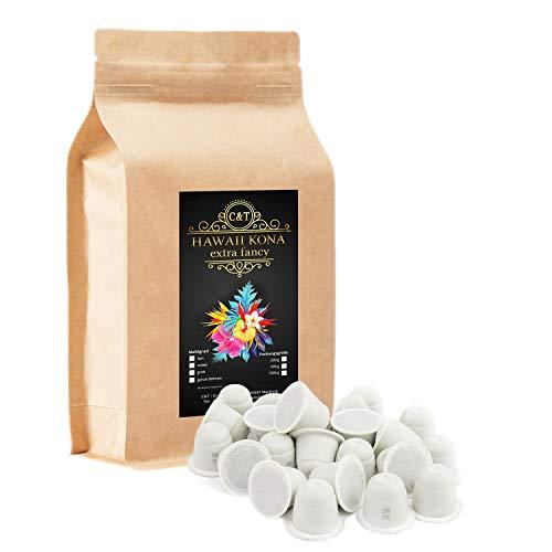 HAWAII KONA Das braune Gold aus Hawaii - 100 Kaffeekapseln Nespresso®-Kompatibel - Einer der besten Kaffees der Welt - Echte Rarität