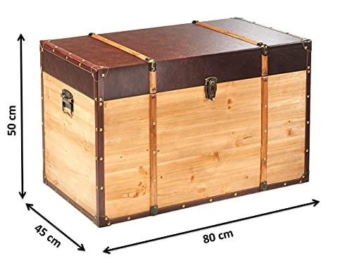 Truhe Schatztruhe Piratentruhe Panama – Holz – 80x45x50 cm - 7