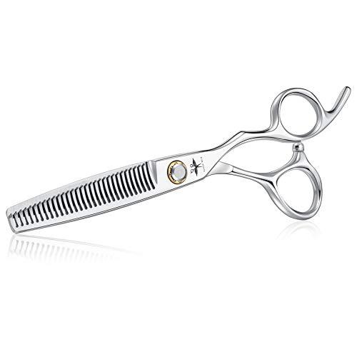 Haarschere Friseurschere 6 Inch Effilierschere Scharfe Haarschneideschere Japanischer Edelstahl 440C für Damen und Herren Haarschere mit kugelgelagertem Spannsystem