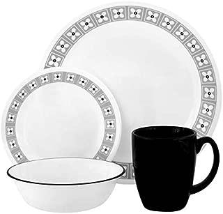 Corelle Livingware 16-Piece Dinnerware Set with Mug, Service for 4, Floral Connection