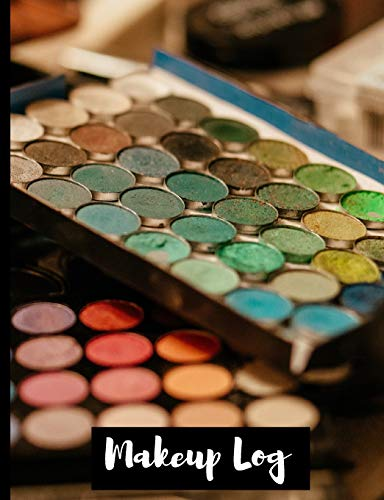 Makeup Logbook To Keep Track Of All Make-Up Styles, Brush Stroke, Color Scheme, Style, etc. - Best Gift For Cosmetologists, Beautician, Beauty School ... or Women To Organize - Large Face Templates