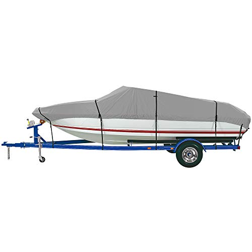 Find Discount iCOVER Trailerable Waterproof Boat Cover, Heavy Duty Marine Grade Canvas, Fits V-Hull,...