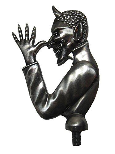 Kool Collectibles 3D Custom Thumbing Devil Brushed Metal Hood Ornament Rat Rod Unique