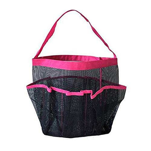 2019 Best Gift!!! Cathy Clara Mesh Shower Caddy Tote Wash Bag Dorm Bathroom Caddy Organizer with 8 Basket Pockets Storage Package