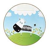 Posavasos para Bebidas Vaca de Dibujos Animados Redondo Portavasos Juego de 6 Cuero Decorativo Coaster Creativa Posavasos Set de Regalo 11x11 cm