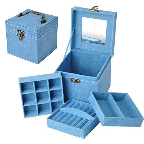 Bosi General Merchandise Caja de joyería, Caja de Almacenamiento de joyería, Pulsera y Caja de Pendiente, Utilizada para Pendientes, Collares, Anillos, Pulseras, broches