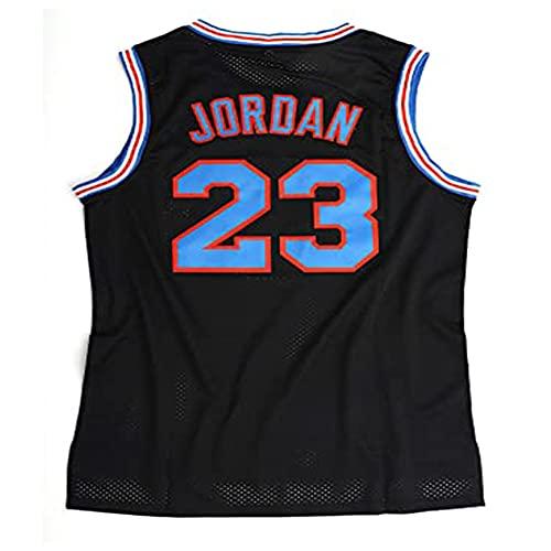 PAPAO Camiseta de Baloncesto para Hombre NBA Michael Jordan 23 Camiseta sin Mangas Transpirable Chaleco Deportivo Fan Basketball, Black Basketball Jersey-S
