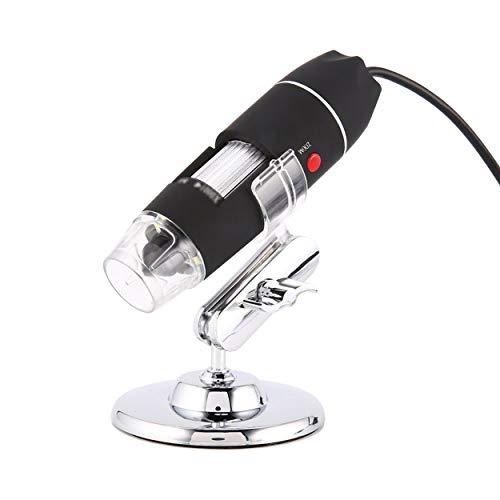 Lorenlli Microscopio digitale a 8 LED 3 in 1 Fotocamera USB Microscopio 1600X Magnifier elettronico stereo Plug and Play