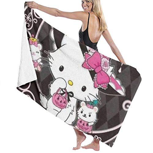 Charmmy Kitty Fast Dry Highly Absorbent Multipurpose Use Bath Towels Beach Towels Pool Towels 31' X 51' for Women Men