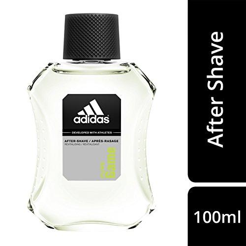 Esdüro Adidas pure game after shave - erfrischendes rasierwasser mit holzig-aromatischem herrenduft - gepflegte haut nach der rasur ohne hautirritationen - 1 x 100 ml