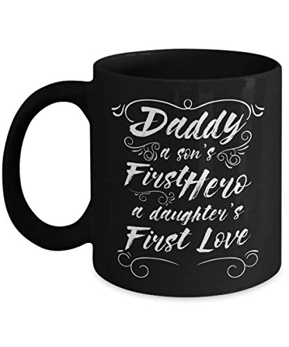 Taza té cerámica uso prolongado Far 's Day a Son' s First Hero a Daughter 's First Love Best Dad Far Grfar Grpa Taza bebida café Regalo